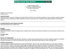Insect Trading Cards Lesson Plan