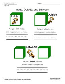 Inside, Outside, and Between Worksheet