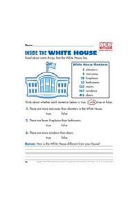 Inside the White House Lesson Plan