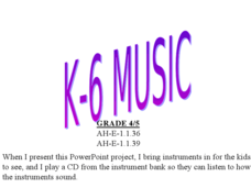 Instrument families Lesson Plan