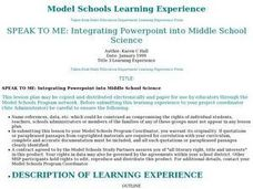 Integrating PowerPoint into Middle School Science Lesson Plan