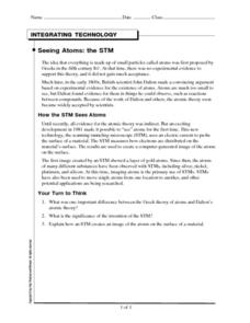 Integrating Technology: Seeing Atoms: STM Worksheet