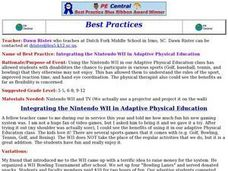 Integrating the Nintendo Wii in Adaptive Physical Education Lesson Plan