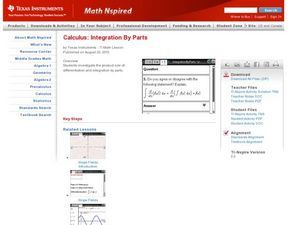 Integration By Parts Lesson Plan