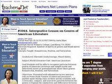 Integrative Lesson on Genres of American Literature (Senior, Literature) Lesson Plan