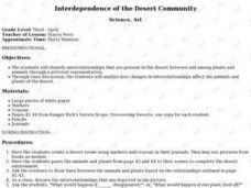 Interdependence of the Desert Community Lesson Plan