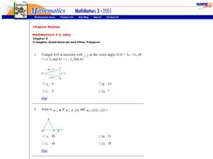 Interior Angles Worksheet