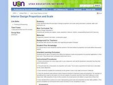 Interior Design Proportion and Scale Lesson Plan
