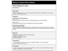 interior designer for a day 7th grade lesson plan lesson