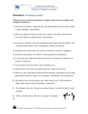 Intermediate Vocabulary Practice Worksheet