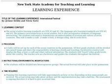International Festival Lesson Plan