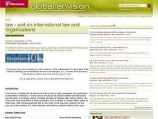 International Law and Organizations Lesson Plan