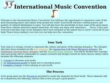 International Music Convention Lesson Plan