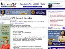 Internet Exploring Lesson Plan