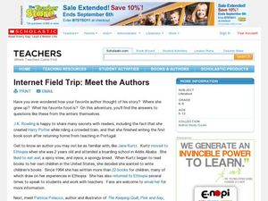 Internet Filed Trip: Meet the Authors Lesson Plan