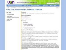 Internet Searches Lesson Plan