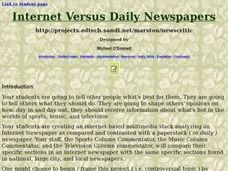 Internet Versus Daily Newspapers Lesson Plan