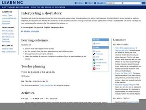 Interpreting a Short Story Lesson Plan
