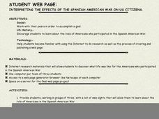 INTERPRETING THE EFFECTS OF THE SPANISH AMERICAN WAR ON US CITIZENS. Lesson Plan