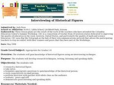 Interviewing of Historical Figures Lesson Plan