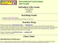 Introduce Life-Goals Lesson Plan