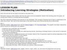 Introducing Learning Strategies (Motivation) Lesson Plan