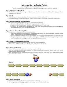Introduction to Body Fluids Worksheet