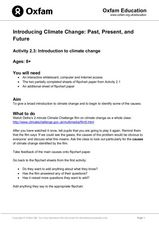 Introduction to Climate Change Lesson Plan