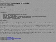 Introduction to Dinosaurs Lesson Plan