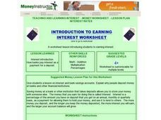 Introduction To Earning Interest Lesson Plan