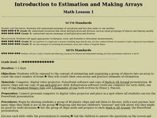 Introduction to Estimation and Making Arrays Lesson Plan