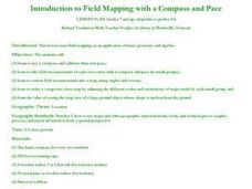 Introduction to Field Mapping with a Compass and Pace Lesson Plan
