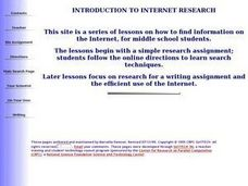 Introduction To Internet Research Lesson Plan