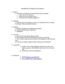 Introduction to Japanese Governmet Lesson Plan