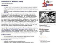 Introduction to Modernist Poetry Lesson Plan