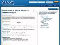 Introduction to Native American Research Project Lesson Plan