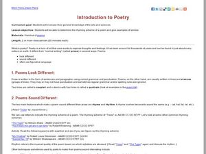 Introduction to Poetry Lesson Plan