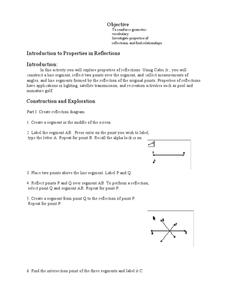 Introduction to Properties in Reflections Lesson Plan