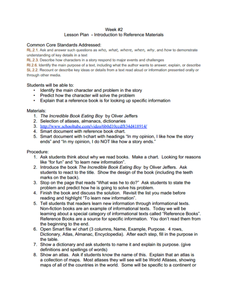 Reference Materials Worksheets - Sharebrowse