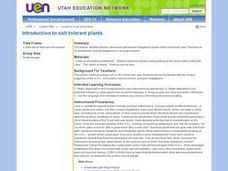 Introduction To Salt Tolerant Plants. Lesson Plan