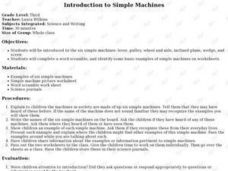 Introduction to Simple Machines Lesson Plan