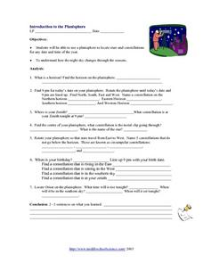 Introduction to the Planisphere Worksheet