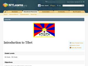 Introduction to Tibet Lesson Plan