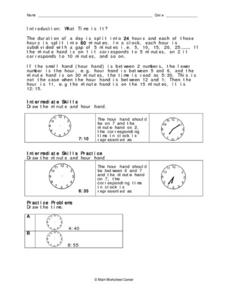 Introduction:  What Time Is It? Worksheet