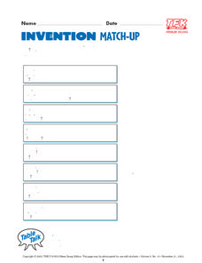 Invention Match-Up Lesson Plan