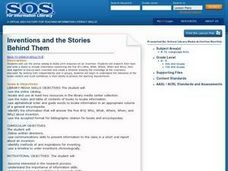 Inventions And the Stories Behind Them Lesson Plan