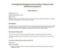 Investigating Biological Communities in Natural and Artificial Ecosystems Lesson Plan