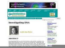 Investigating DNA Lesson Plan