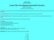 Investigating Exponential Functions Lesson Plan