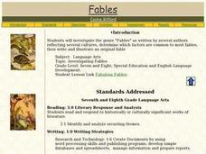 Investigating Fables Lesson Plan